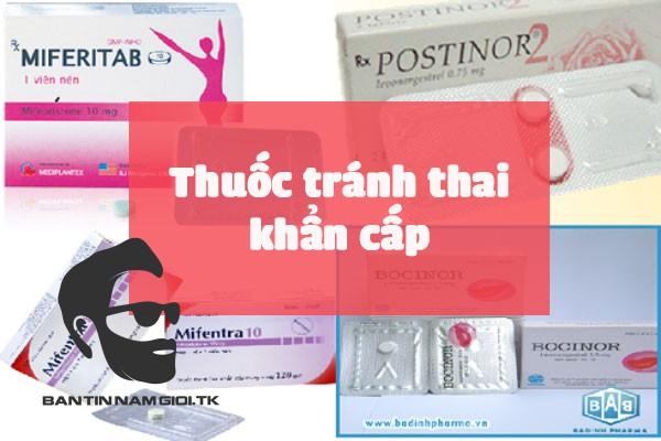 Các loại thuốc tránh thai khẩn cấp