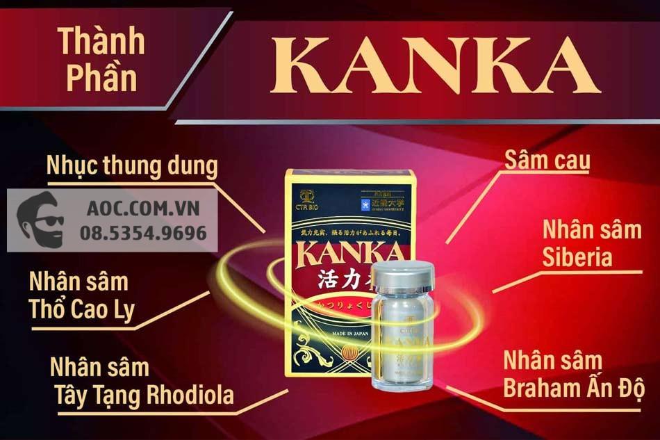 Các thành phần chính của Bổ thận Kanka