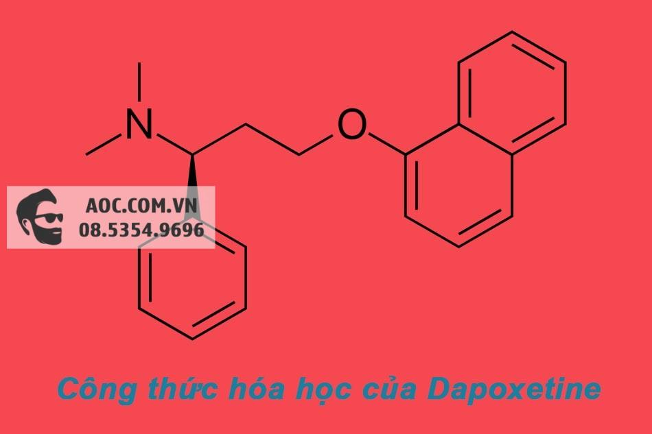Công thức hóa học của hoạt chất Dapoxetine