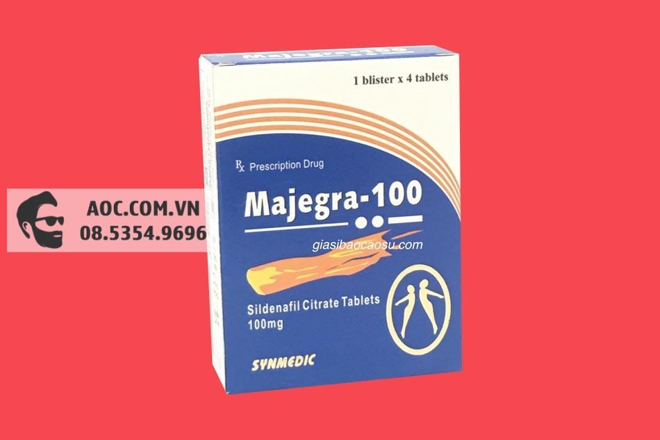 Hình ảnh hộp thuốc sinh lý Majegra 100mg