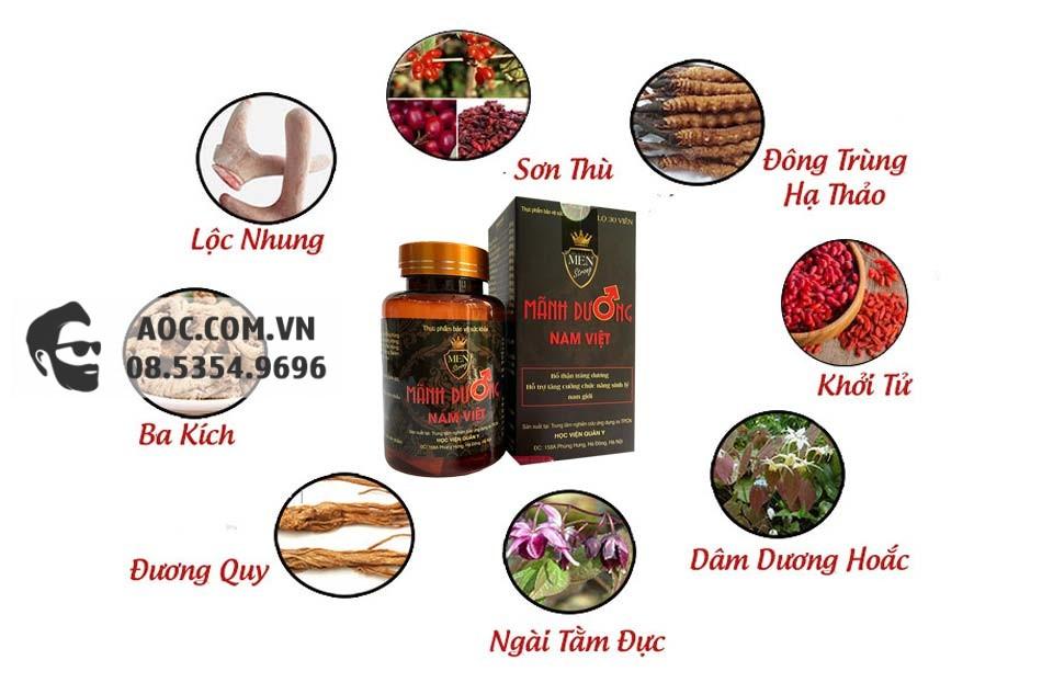 Các thành phần chính có trong Mãnh Dương Nam Việt