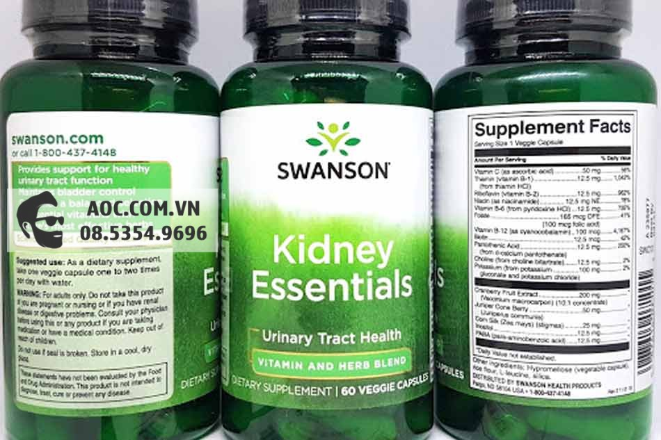 Swanson Condition Specific Kidney Essential xuất xứ từ Mỹ