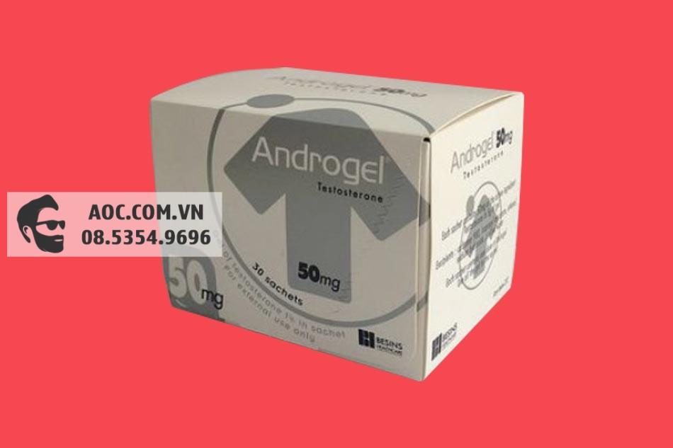 Hình ảnh hộp thuốc Androgel 50mg